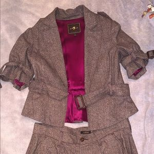 Two piece jacket and shorts 7 for all man kind